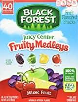 Black Forest Medley Juicy Center Fruit Snacks, Mixed Fruit Flavors, 0.8 Ounce Bag, 40 Count Prime Only S&S FS $5.23