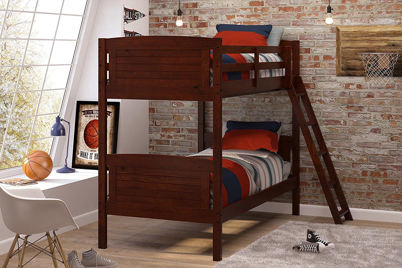 Woodcrest 8010KD Scored Bunk Bed, Twin, Chocolate FS $239.63