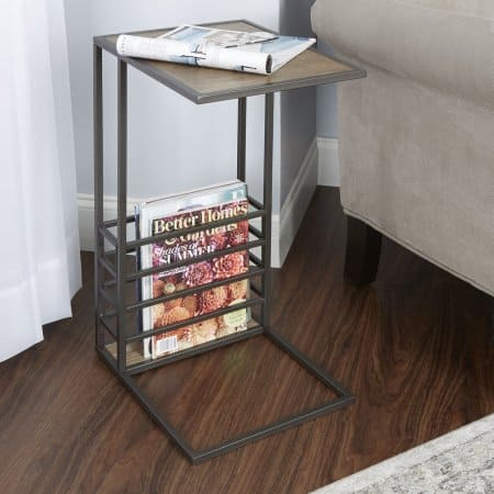 Better Homes and Gardens Wood & Metal Accent Table with Magazine Holder Free Pickup $18.25