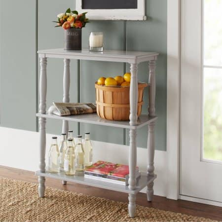 10 Spring Street Langham Console/Bookcase, Grey Free Pickup $26.86
