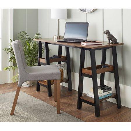 10 Spring Street Sawyer Work Table, Black and Walnut FS $51.99