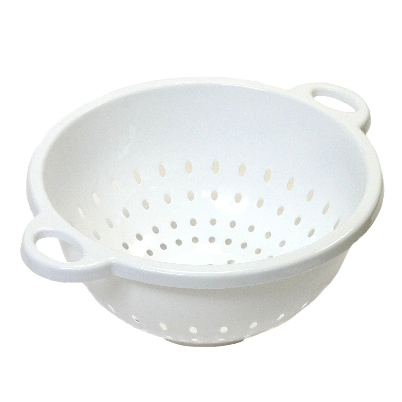 Chef Craft, 5-Quart, Deep Colander, White, 11 by 5 inch Prime $2.1