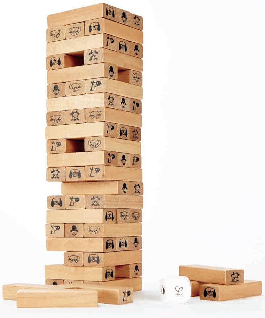 Hape Toppling Wood Blocks (Amazon Exclusive) Prime $8.38
