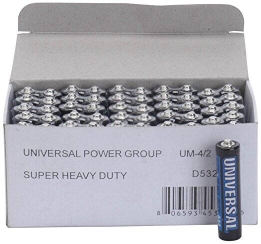 Universal Power Group Super Heavy-Duty Battery Value Box AA; 50 pk Prime $5.62