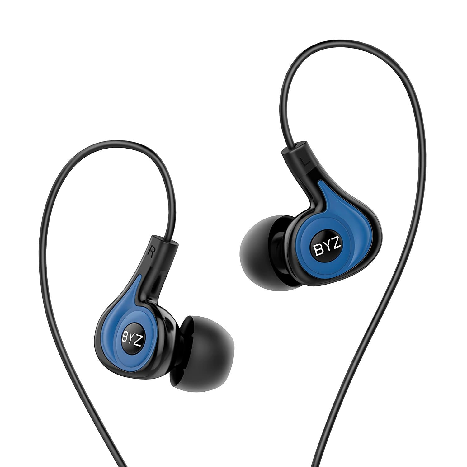 BYZ-K62 Earbuds with Microphone and Volume Control Wired Headphones Prime $4.96
