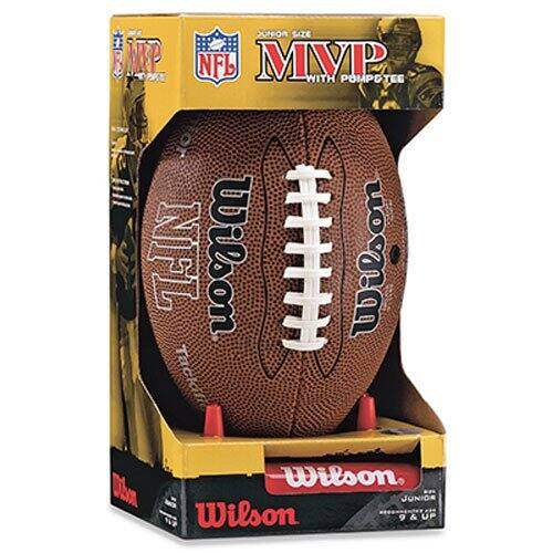 Wilson NFL MVP Junior Football with Pump and Tee Walmart Amazon $6.61