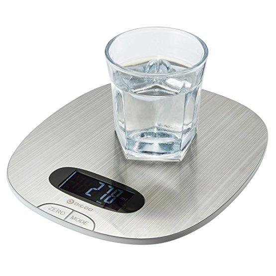 DIGOO 11lb/5kg Digital Stainless Steel Multifunction Food Scale Prime $4.99