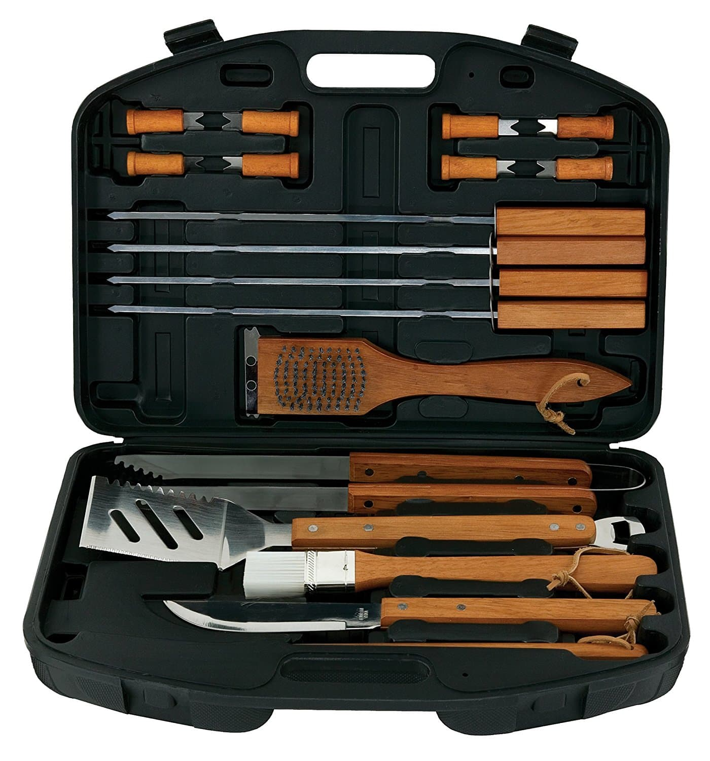 Mr. Bar-B-Q 18-Piece Stainless-Steel Barbecue Set with Storage Case Prime $9.16