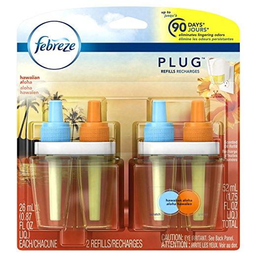 Febreze PLUG Air Freshener Refills Hawaiian Aloha (2 Count, 1.75 oz) Add-On $4.11