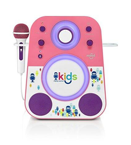 The Singing Machine Kids Mood LED Glowing Bluetooth Karaoke System w/ Wired Microphone Prime $14.86