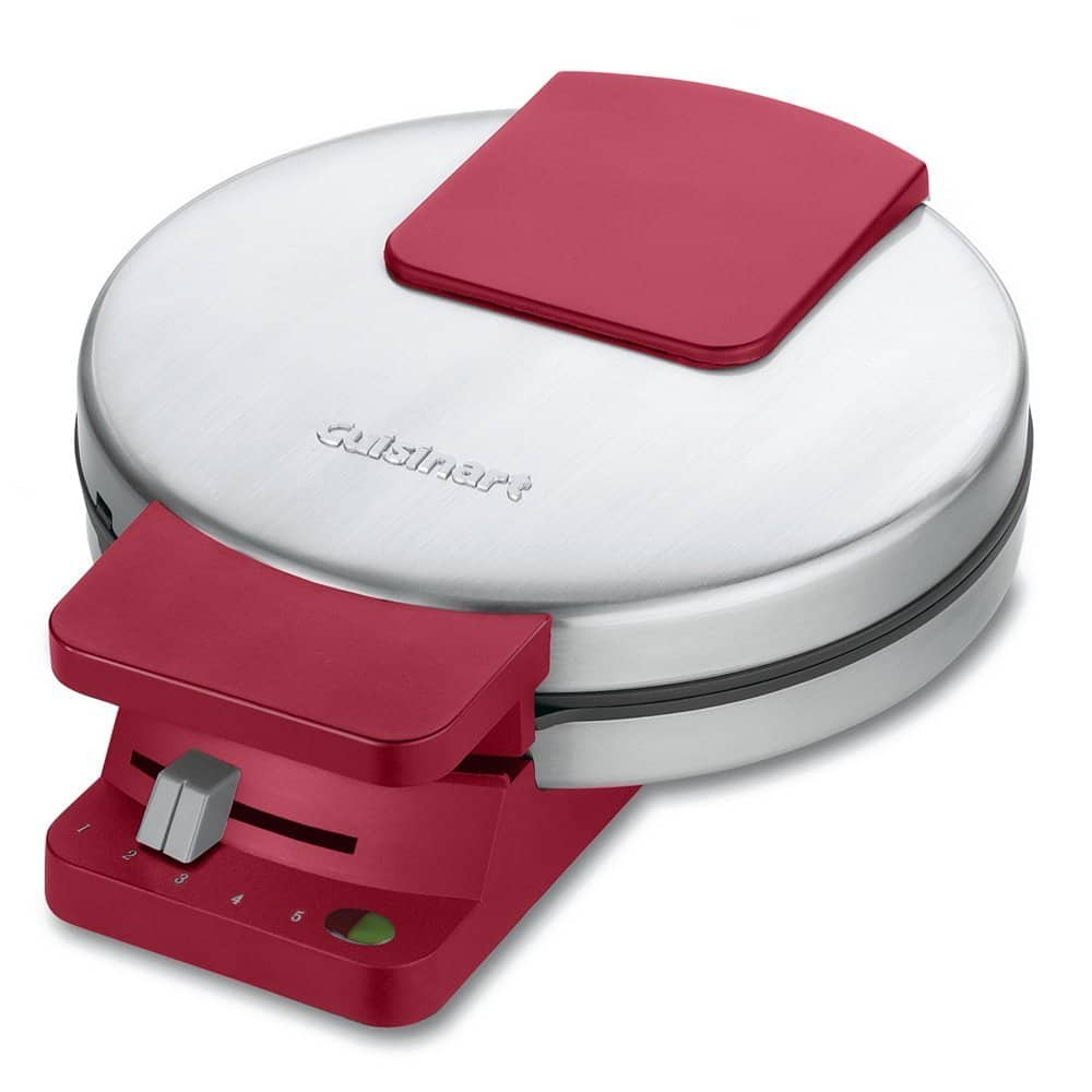 Cuisinart WMR-CAR Round Classic Waffle Maker, Stainless Steel/Red Prime $16.99