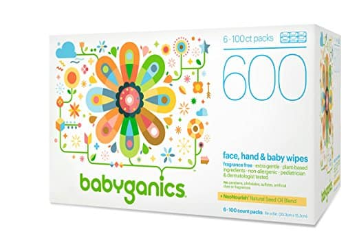 Babyganics Face, Hand & Baby Wipes, Fragrance Free, 600 Count  S&S FS $11.37