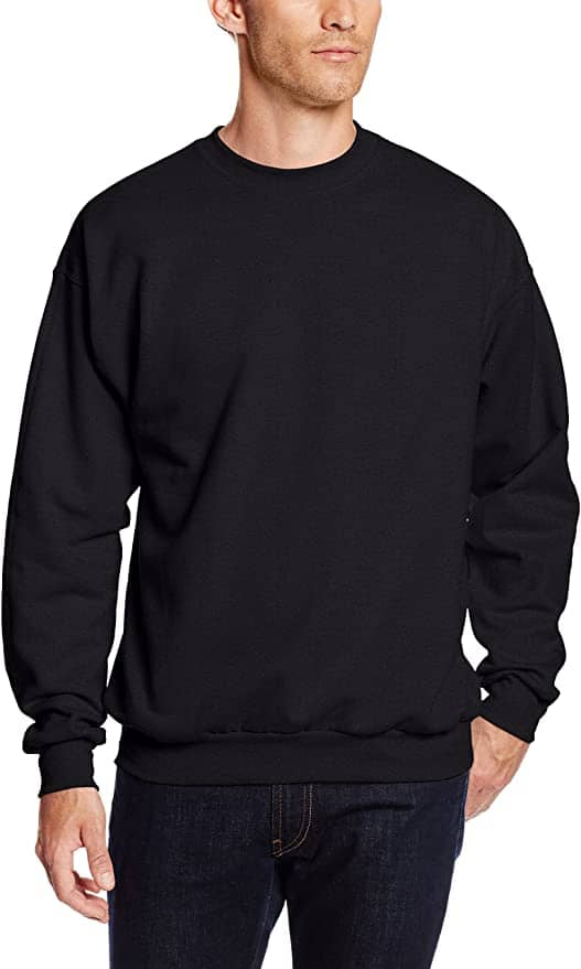 Hanes Men's EcoSmart Fleece Sweatshirt (Pack of 2) Prime Shipping $9