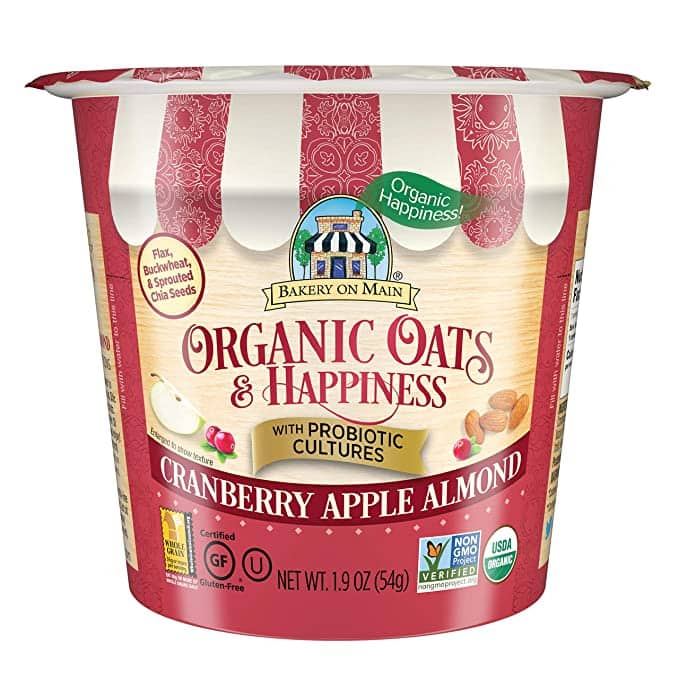 Bakery on Main Gluten Free Oatmeal Cup, 12 Count [Cranberry Apple Almond] $7