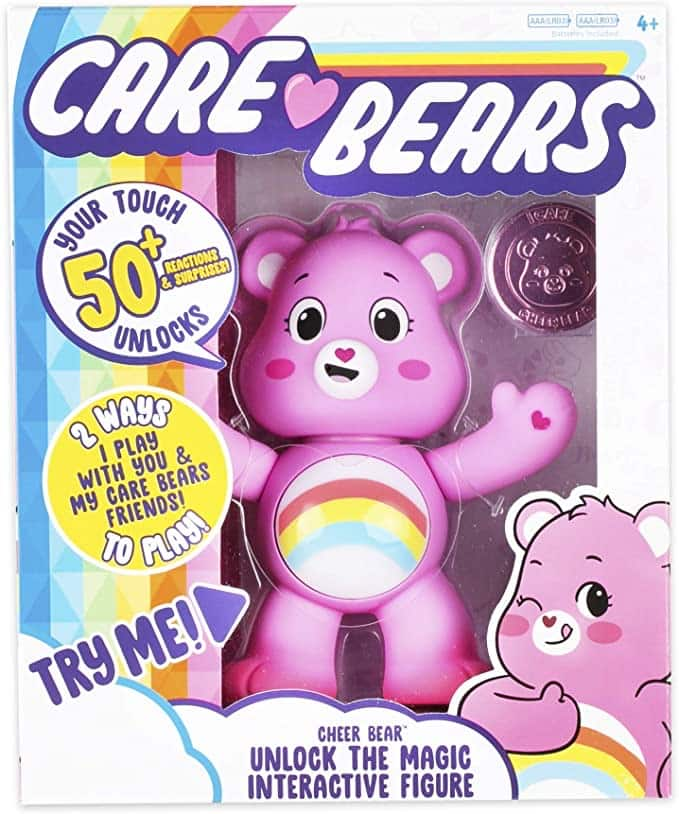 Care Bears Cheer Bear Interactive Collectible Figure, Over 50 Reactions, Prime Shipping $5