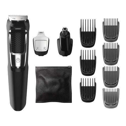 Philips Norelco Multigroom All-In-One Series 3000, 13 attachment trimmer, MG3750 [Standard Packaging, retail_packaging] $14.85
