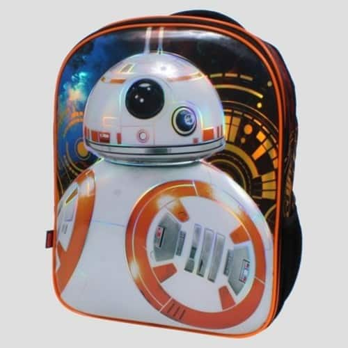 """TARGET *in-store_ YMMV* Star Wars® BB8 16"""" Kids' Backpack with Beanie and Lights $5.38"""