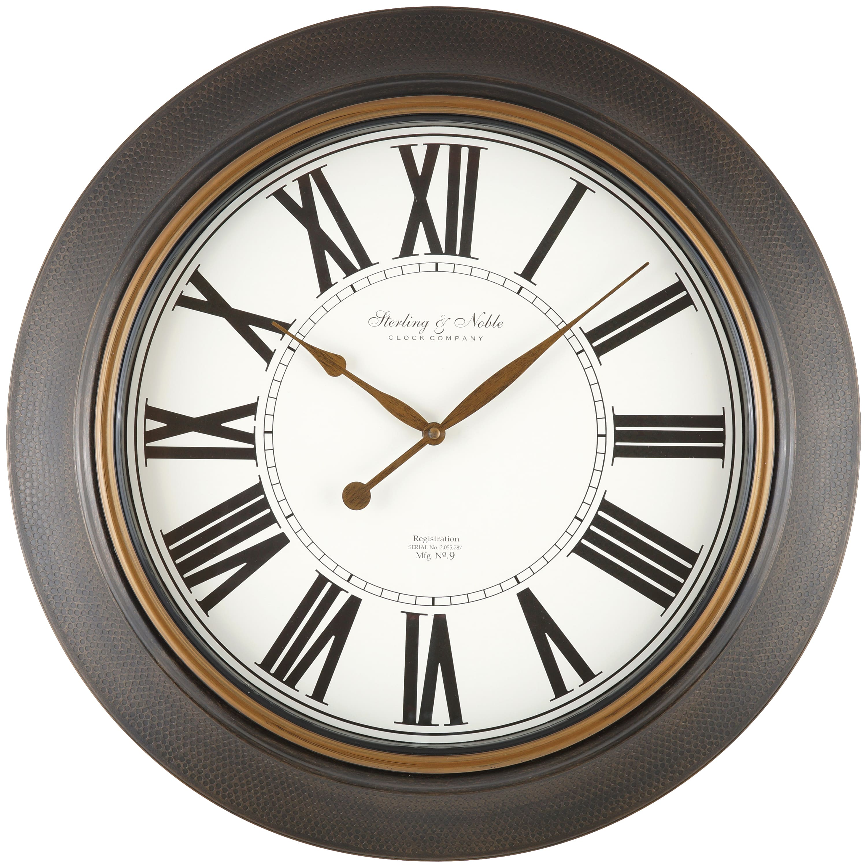 "Mainstays 20"" Bronze Roman Numeral Wall Clock, Bronze Finish YMMV *in-store* $5"