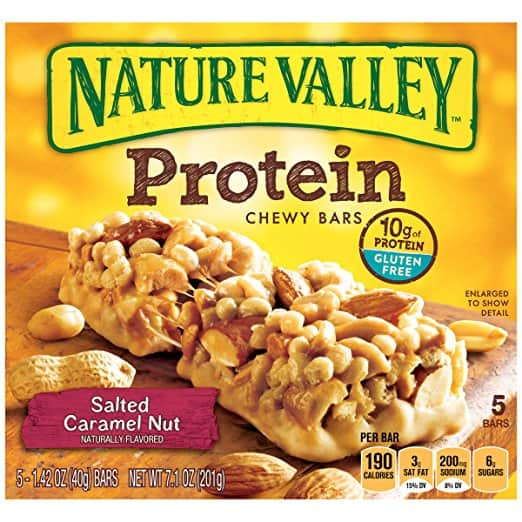 Nature Valley Chewy Granola Bar (Salted Caramel Nut) 5 Bars $2.84 Add-on Item Or $2.24 with 20% Coupon