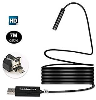 2 in 1 USB Endoscope 2 MP 720p HD Camera 8.5mm IP67 Waterproof 6 Adjustable LEDs Digital $9.69