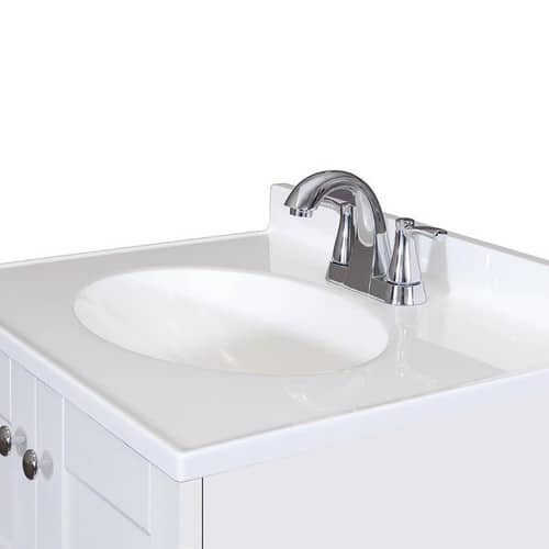 Lowes Ymmv Style Selections White Integral Single Sink Bathroom Vanity With Cultured Marble Top