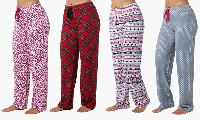 Women's 100% Cotton Pajama Knit Pants (4-Pack) $7.97