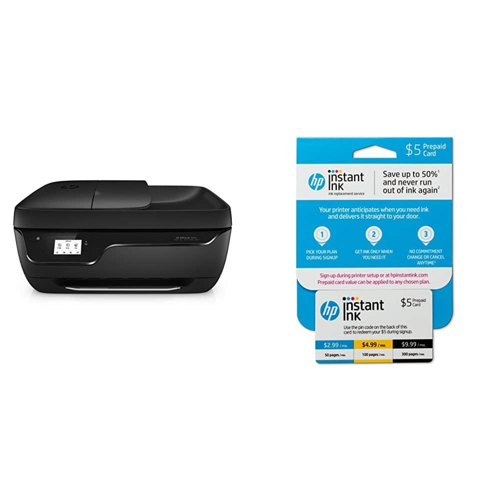 HP OfficeJet 3830 All-in-One Wireless Printer with Mobile Printing (K7V40A) and $5 Instant Ink Prepaid Card $49.99 + FREE SHIPPING @Amazon
