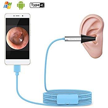 Depstech USB Otoscope. Digital Ear Scope Ear Inspection Camera, Earwax Cleansing Tool. 6 LED Lights. Micro USB/USB-C. Android/Windows/MAC. $17.49