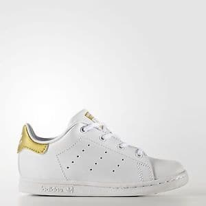 adidas Stan Smith Shoes Kids' White for  $22 @ ebay