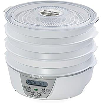 Presto Food Dehydrator Model 06301 (6 tray model, digital display, adjustable temp) - $44.99 on Amazon, lowest ever per CCC