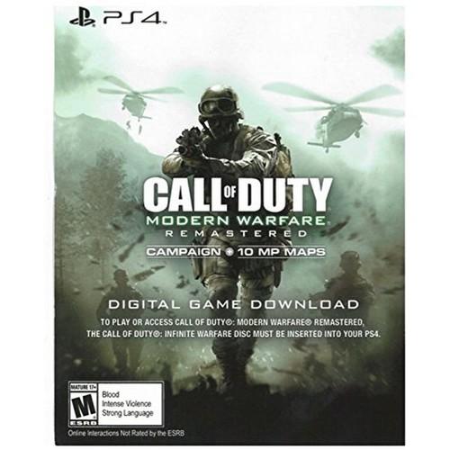 PS4 Call of Duty Modern Warfare Remastered Download Voucher -Infinite Warfare Disc REQUIRED (AMAZON) $12.99