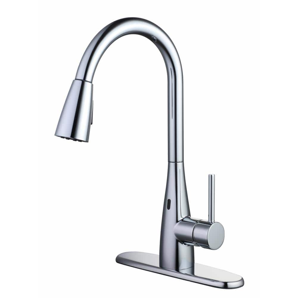 Glacier Bay- Vazon Touchless Single-Handle Pull-Down Sprayer Kitchen Faucet with TurboSpray $78.88