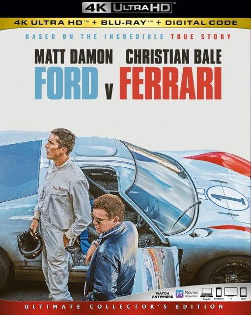 Ford v Ferrari [Includes Digital Copy] [4K Ultra HD Blu-ray/Blu-ray] [2019] - $13.99 at Best Buy