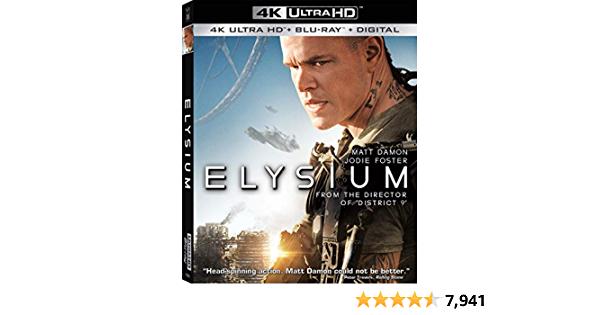 Elysium [4K Ultra HD + Blu-ray + Digital] - $14.99