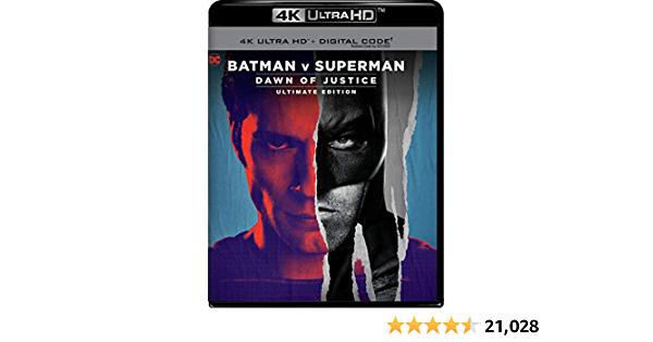 Batman v Superman: Dawn of Justice 4K Blu-ray + Digital (re-mastered) - $12.60