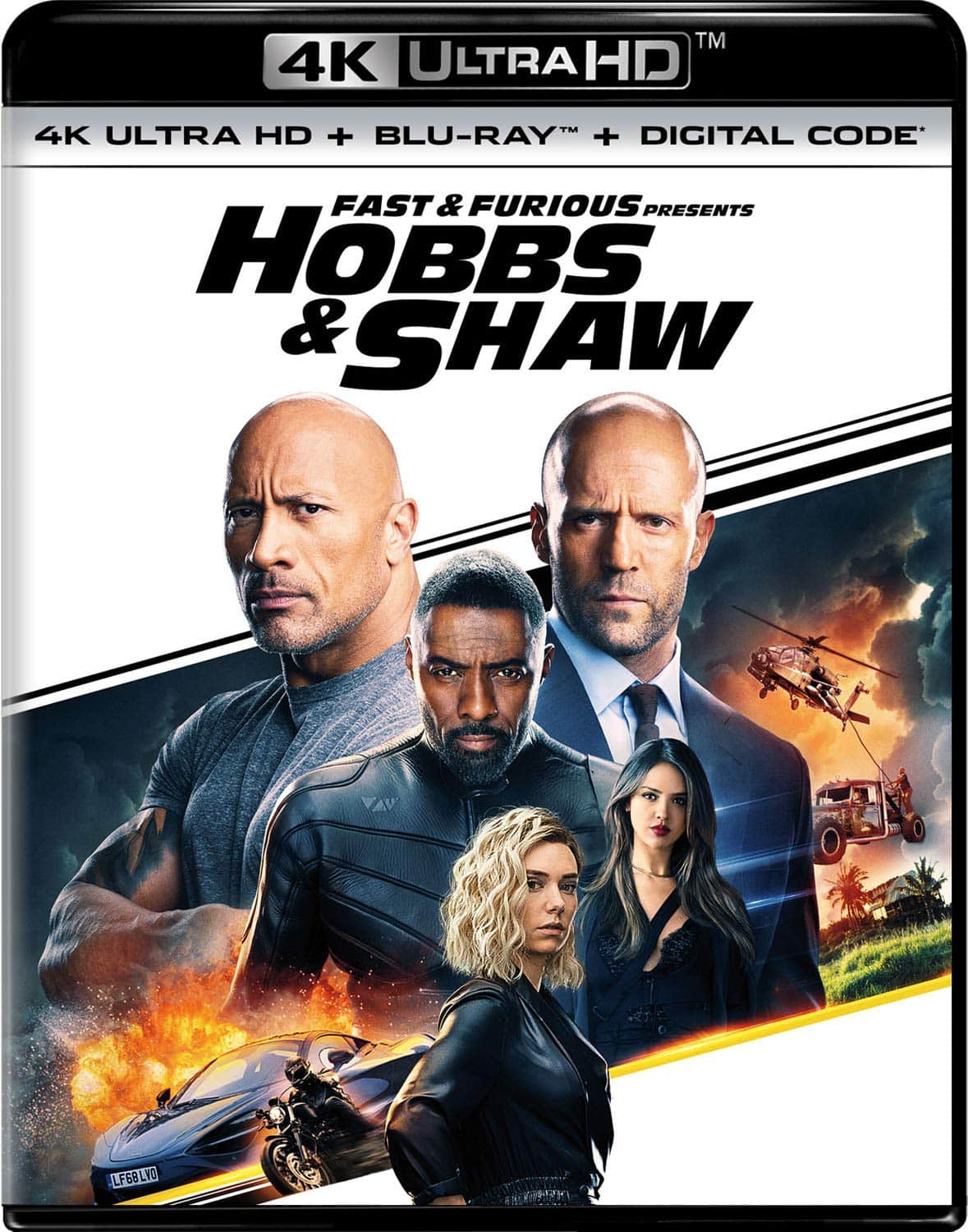 Fast and Furious: Hobbs and Shaw (4K UHD Blu-ray + Blu-ray + Digital) $17 Blu-ray $15