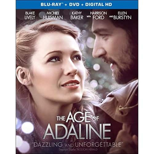 The Age Of Adaline [Blu-ray + DVD + Digital] $6 + free shipping w/ prime or $25+