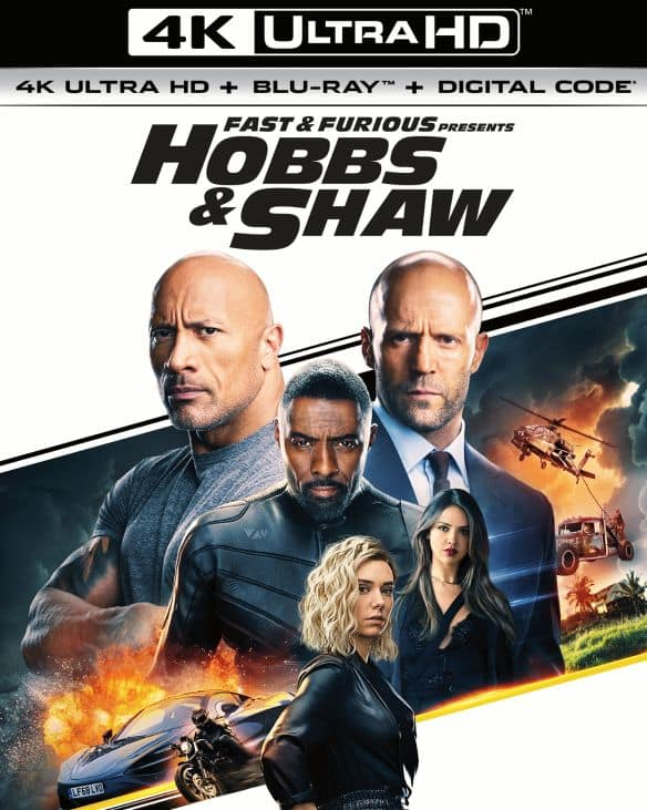 Fast & Furious Presents: Hobbs & Shaw (4K UHD + Blu-ray + Digital) $15
