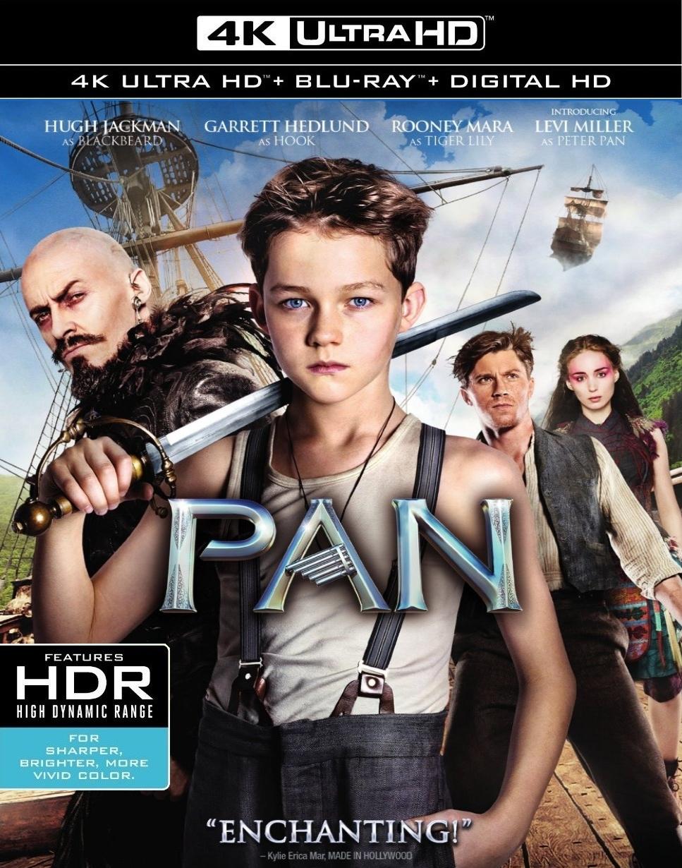 Pan (4K UHD + Blu-ray + Digital) $13