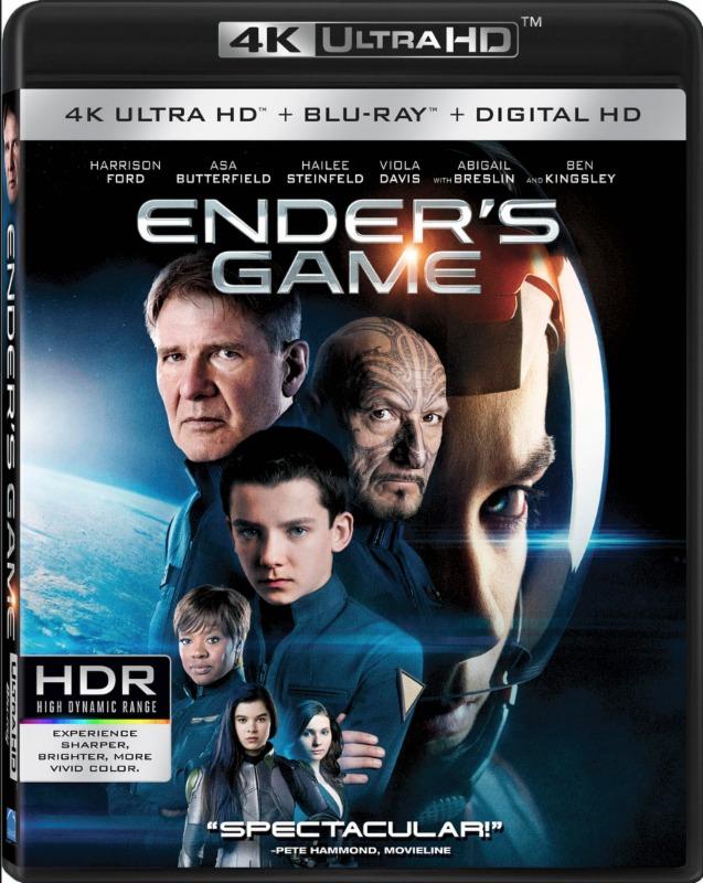 Ender's Game (4K UHD + Blu-ray + Digital) $10 @Amazon/Walmart