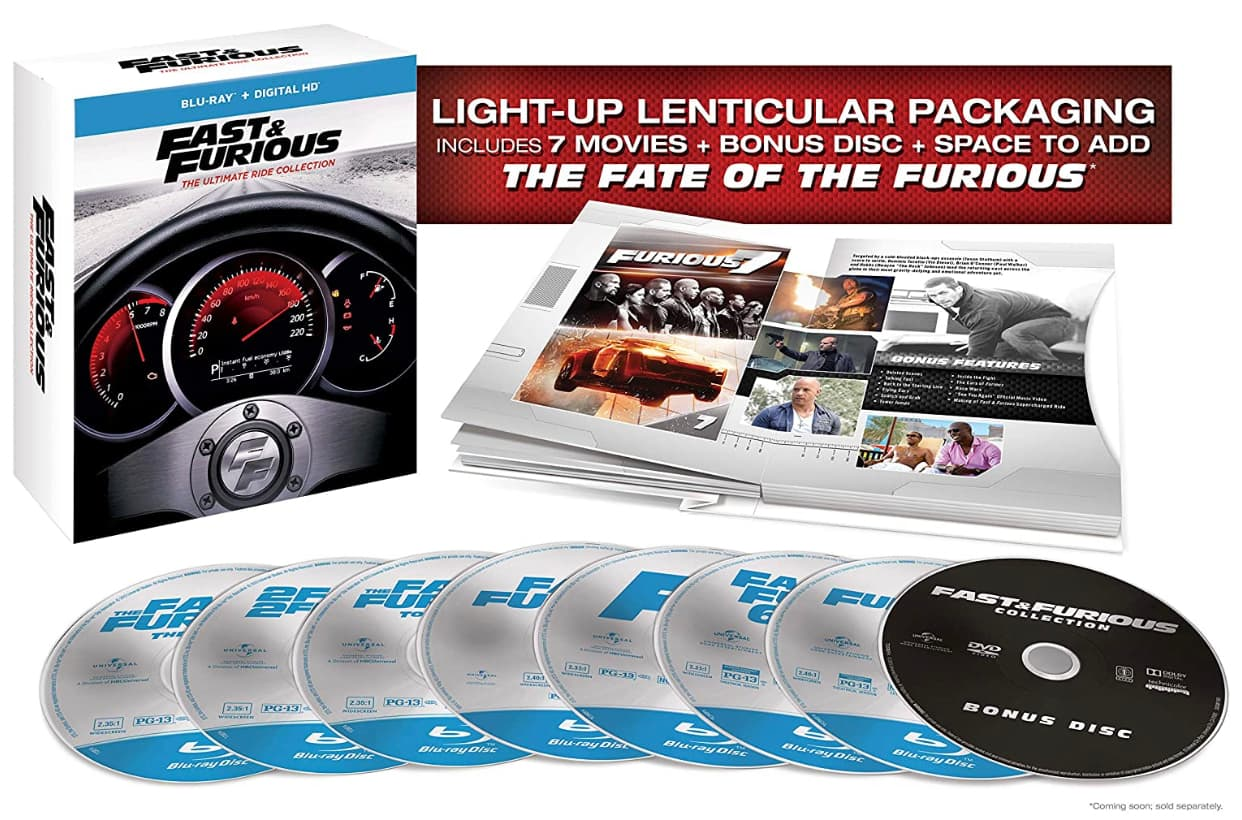 Fast & Furious 1-7 Ultimate Ride Collection (Blu-ray + Digital) $19.96