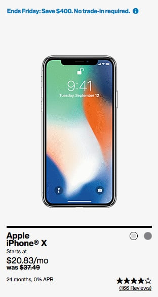 sale retailer 0ef3d 9f044 Verizon iPhone X 64 GB $499 (Black Friday only) - Slickdeals.net