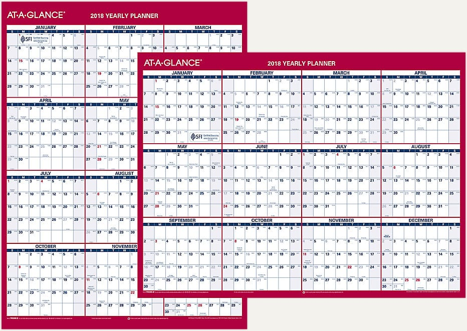 At-A-Glance 30% Off All Erasable Wall Calendars $11.61