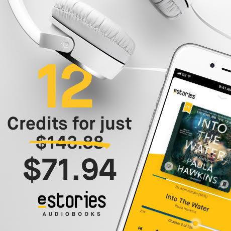 eStories Audibooks - 1 Year Audiobook Membership /w 12 Credits $71.94