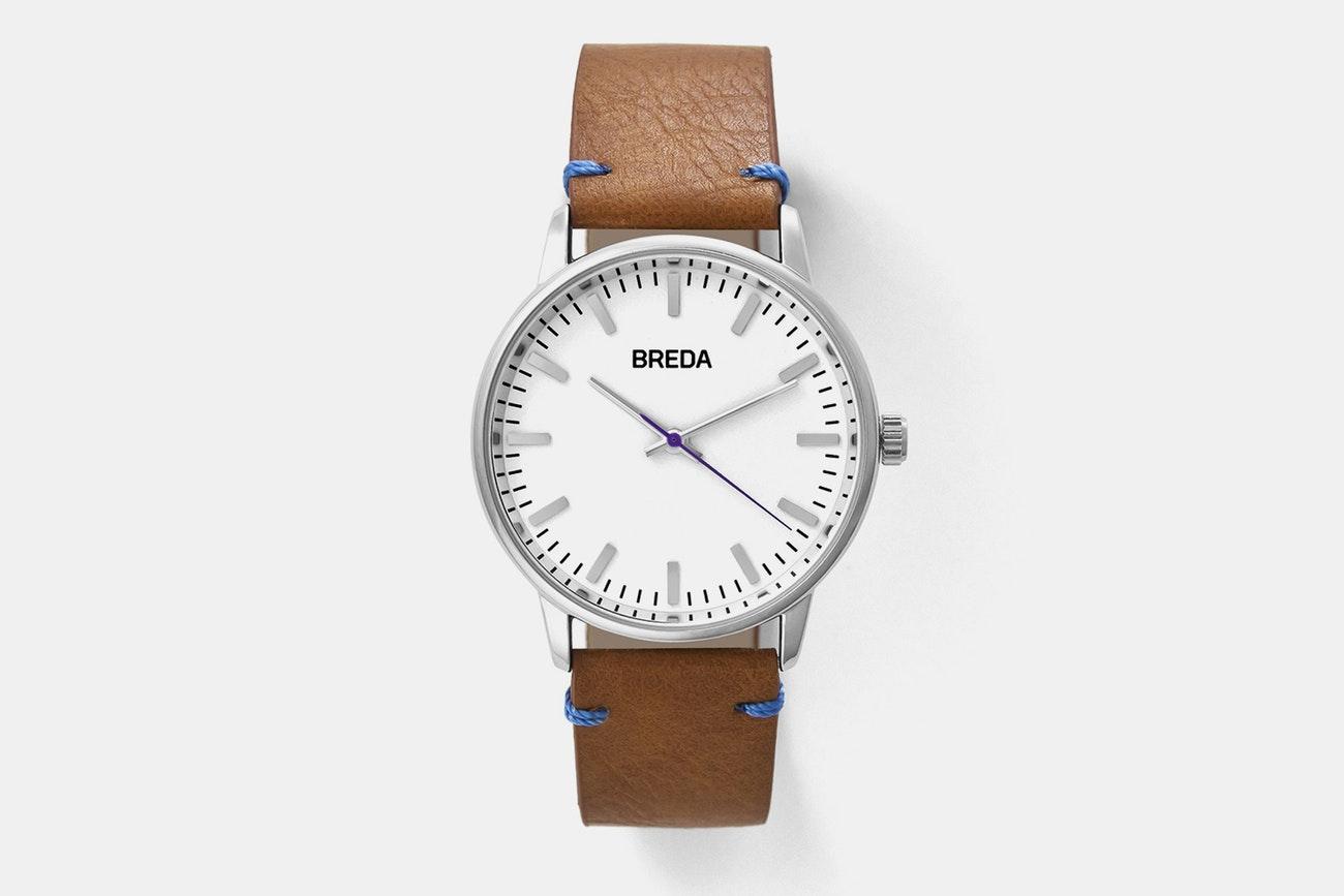 Massdrop - Breda Zapf Quartz Men's Leather Strap Watch $59.99