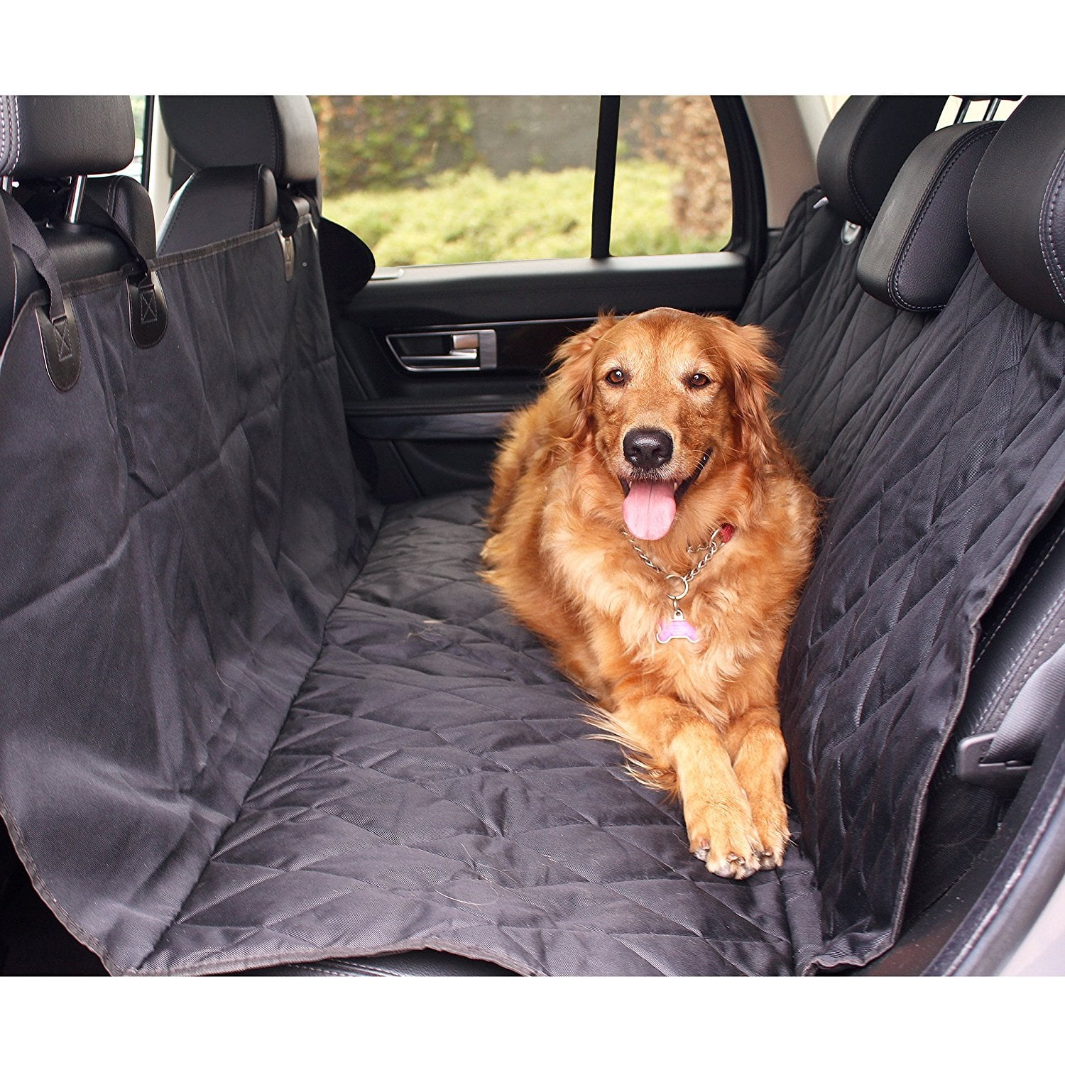 BarksBar - Luxury Non-Slip Pet Car Seat Cover (Standard or XL) 15% Off $22.09