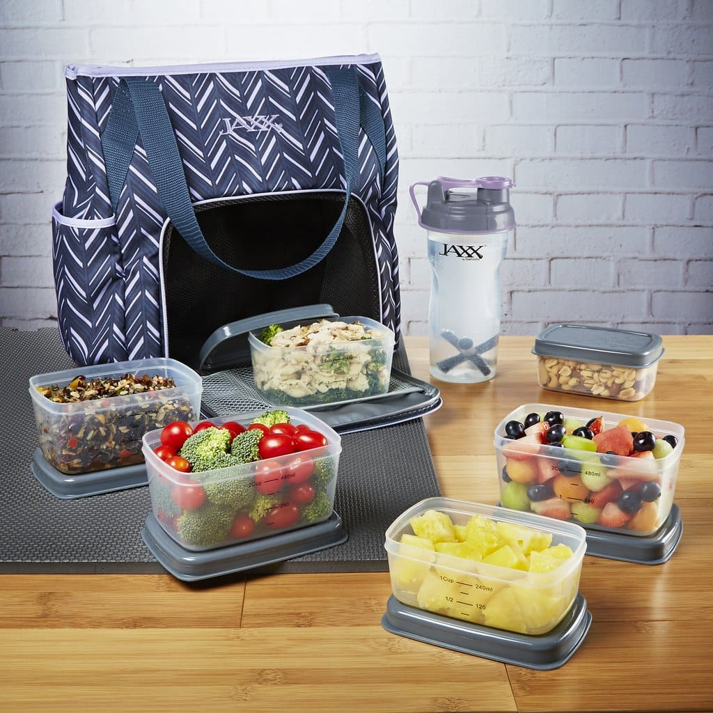 Jaxx FitPak Meal Prep Gym Tote and Containers $22