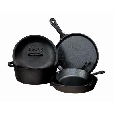 Lodge Seasoned Cast-Iron Cookware, 5-Pc. Set $74.97