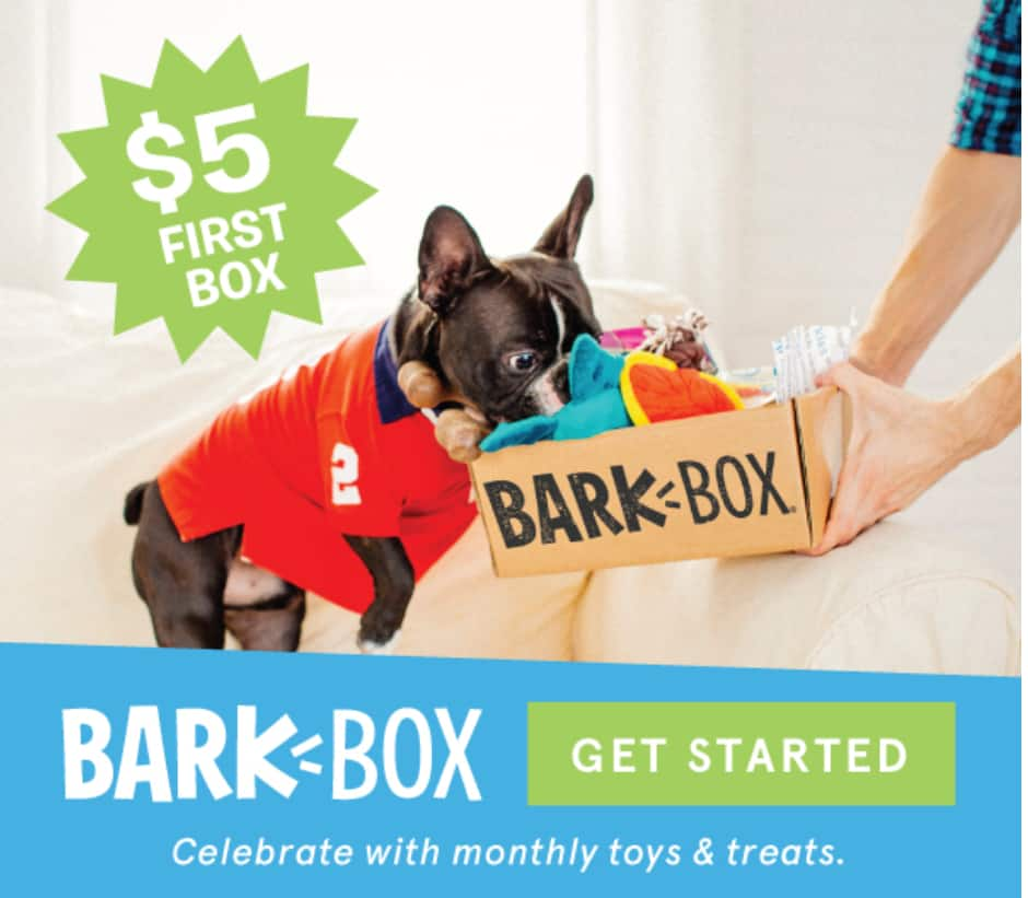 BarkBox - $5 First BarkBox Subscription /w 6 Month or 12 Month Plan + Free Shipping