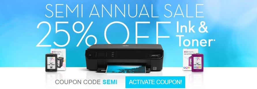123inkjets 25% Off Ink Cartridges & Toners + Free Shipping
